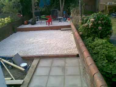 Installed new paving slabs and remodelled garden by Handyman in Reading